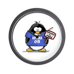 Obama 08 Penguin Wall Clock