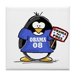 Obama 08 Penguin Tile Coaster
