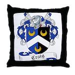 Craig Family Crest Throw Pillow