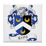 Craig Family Crest Tile Coaster