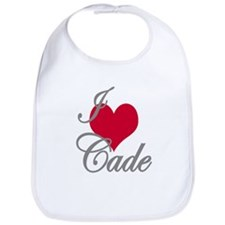 I love (heart) Cade Bib