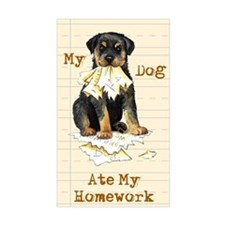 Rottweiler Ate Homework Rectangle Decal