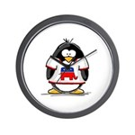 Republican Penguin Wall Clock