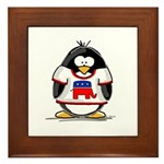 Republican Penguin Framed Tile