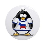 Democrat Penguin Ornament (Round)