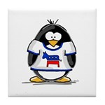 Democrat Penguin Tile Coaster