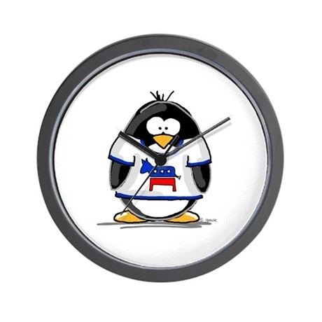 Democrat Penguin Wall Clock