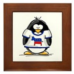Democrat Penguin Framed Tile