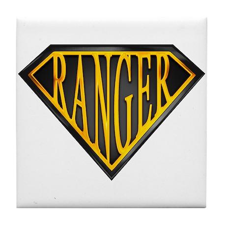 SuperRanger(blk/gld) Tile Coaster