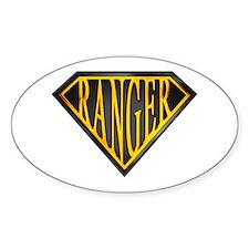 SuperRanger(blk/gld) Oval Decal