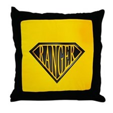 SuperRanger(blk/gld) Throw Pillow