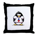 The Penguin Party Penguin Throw Pillow
