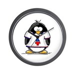 The Penguin Party Penguin Wall Clock
