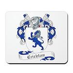 Crichton Family Crest Mousepad