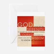 Serenity Prayer I Artwork Pro Greeting Card