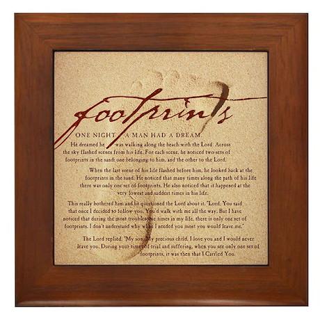 Footprints Artwork Products Framed Tile