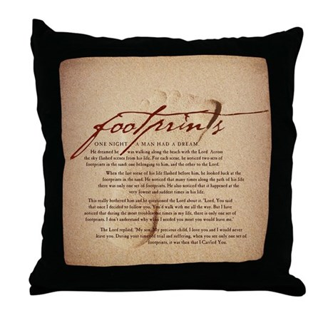 Footprints Artwork Products Throw Pillow