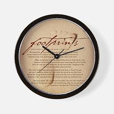 Footprints Artwork Products Wall Clock