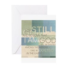 Psalm Scripture Collage Produ Greeting Card