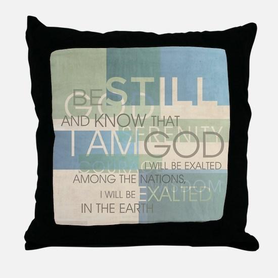 Psalm Scripture Collage Produ Throw Pillow