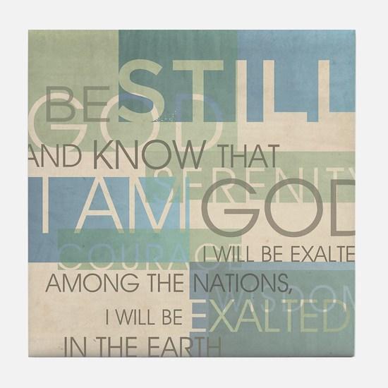 Psalm Scripture Collage Produ Tile Coaster