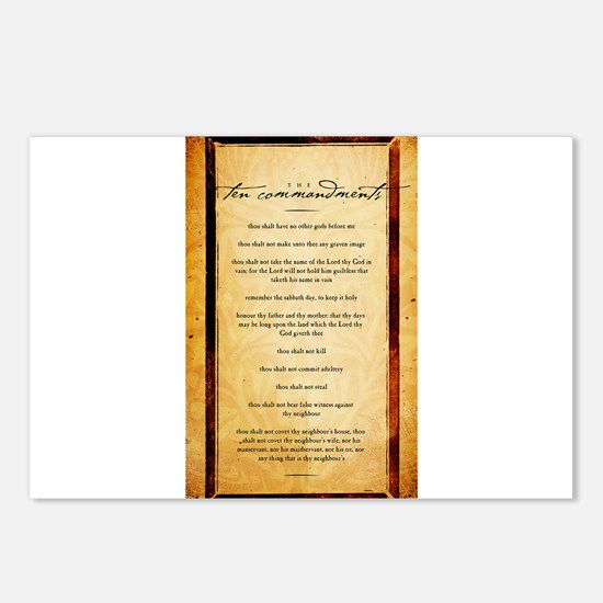 The Ten Commandments Artwork Postcards (Package of