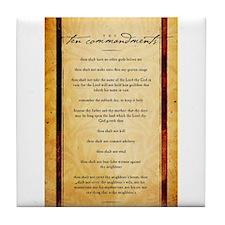 The Ten Commandments Artwork Tile Coaster