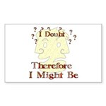 Doubt Therefore Might Be Rectangle Sticker 50 pk)