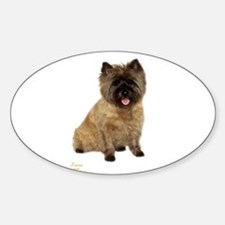 Cairn Terrier Oval Decal