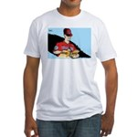 Editorial Cartoon Fitted T-Shirt