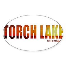 Torch Lake, Michigan Oval Decal