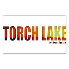 Torch Lake, Michigan Rectangle Decal