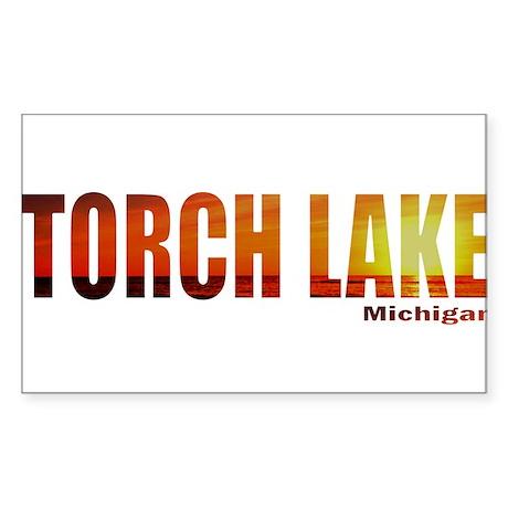 Torch Lake, Michigan Rectangle Sticker