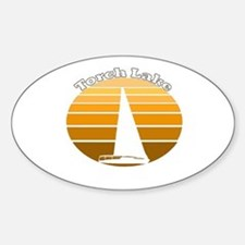 Torch Lake, Michigan Oval Decal