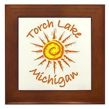 Torch Lake, Michigan Framed Tile