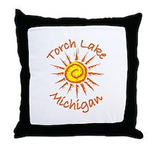 Torch Lake, Michigan Throw Pillow