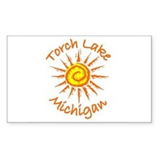 Torch Lake, Michigan Rectangle Decal