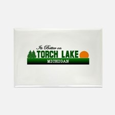 Its Better on Torch Lake, Mic Rectangle Magnet