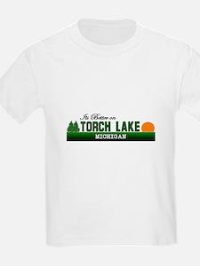Its Better on Torch Lake, Mic T-Shirt