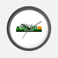Its Better on Torch Lake, Mic Wall Clock