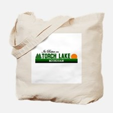 Its Better on Torch Lake, Mic Tote Bag
