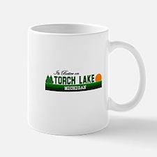 Its Better on Torch Lake, Mic Mug