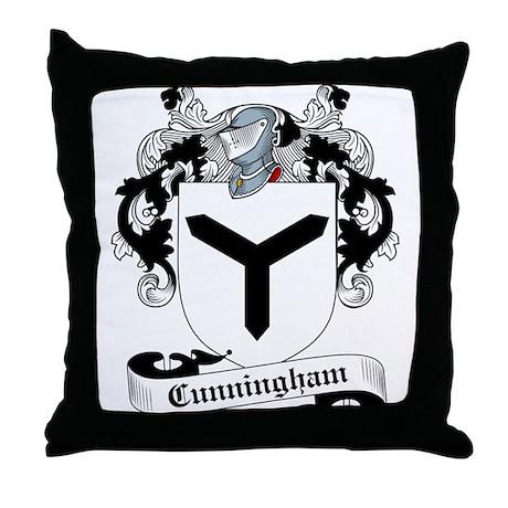 Cunningham Family Crest Throw Pillow