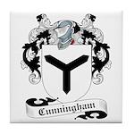 Cunningham Family Crest Tile Coaster