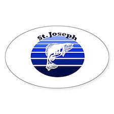 St. Joseph, Michigan Oval Decal