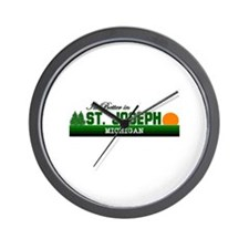Its Better in St. Joseph, Mic Wall Clock