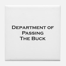 Passing the Buck Tile Coaster