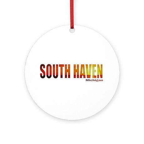 South Haven, Michigan Ornament (Round)
