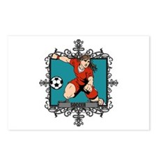 Aggressive Women's Soccer Postcards (Package of 8)