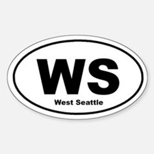 West Seattle Oval Decal